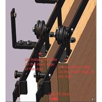 Bypass Door Kit & Single Track Bypass Barn Door Hardware ...