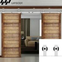 WinSoon 5-16FT Sliding Barn Door Hardware Double Doors ...