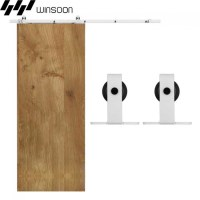 WinSoon 5-16FT Sliding Barn Door Hardware Single Door ...