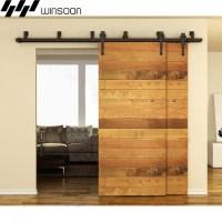 WinSoon 5-16FT Sliding Bypass Barn Door Hardware Double ...