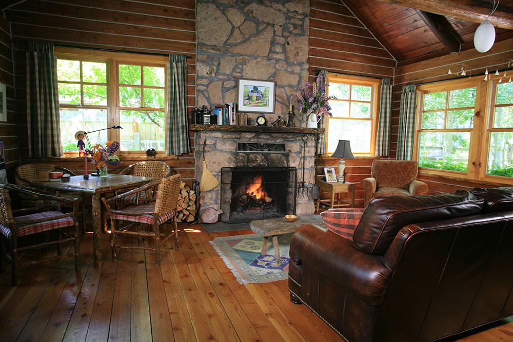 Living Room ~ Winton Marsh Mountain Log Cabin - log cabin living rooms