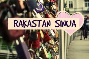 I love you in Finnish Rakastan sinua