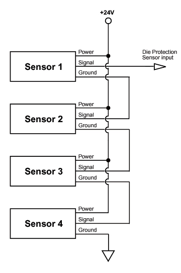 wiring proximity switches in series