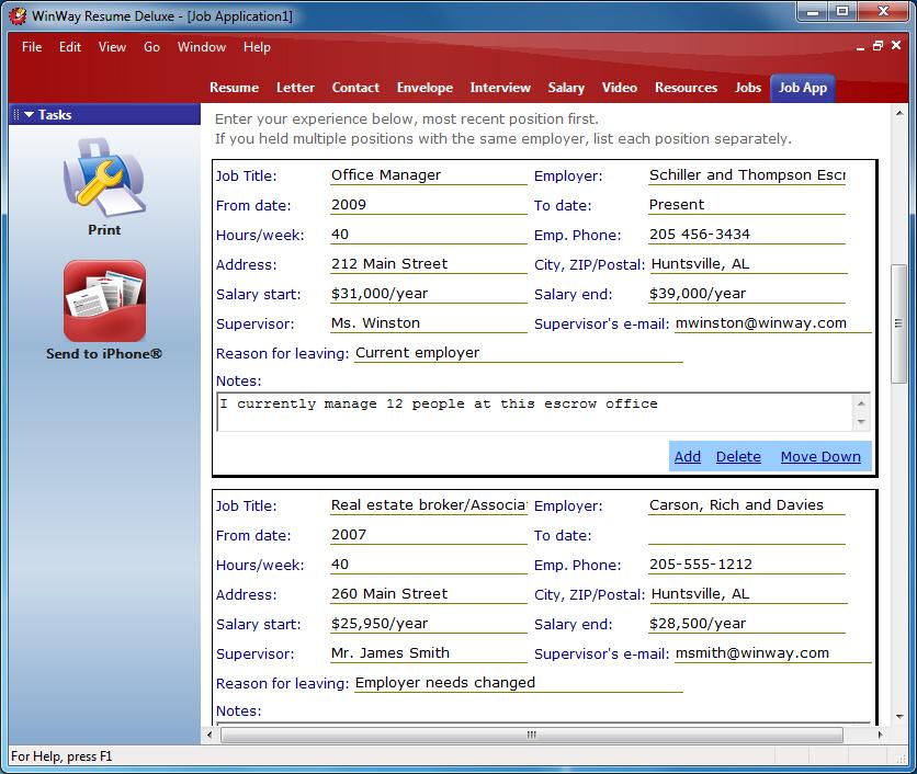 Job Application Organizer - winway resume free