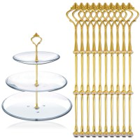 10 Sets 3 Tier Cake Plate Stand Handle Fittings Gold for ...