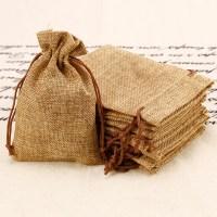 10PCS Small Vintage Natural Burlap Hessian Bomboniere Bags ...