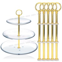5 sets 3 Tier Plate tiered Stand Fitting for Cake,Fruit ...