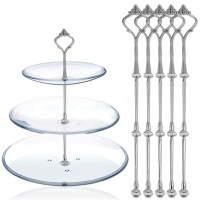 5 Sets 3 Tier Elegant Cake Plate Stand Handle Fittings ...