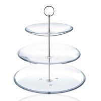 8 Sets 3 Tier Round Cake Plate Stand Handle Fittings ...