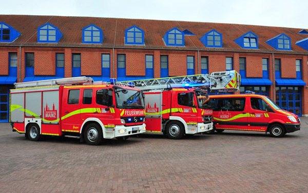 Arbeitsreicher Sonntag für die Feuerwehr in Mainz