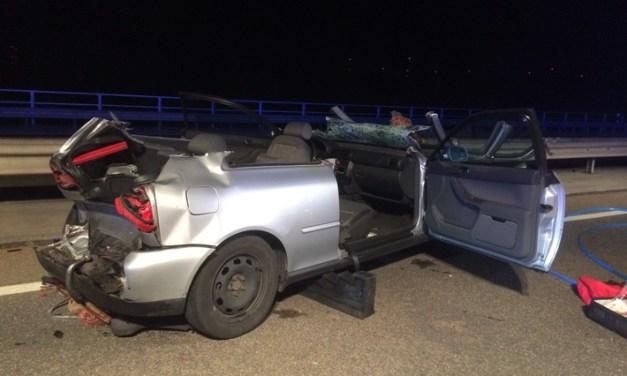 Unfall mit mehreren Verletzten auf der Weinheimer Talbrücke