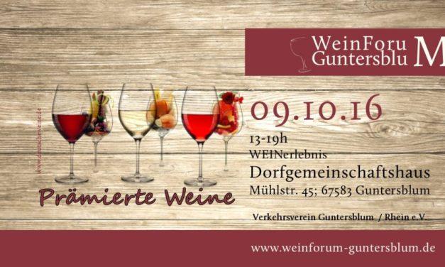 WeinForum Guntersblum am 09. Oktober 2016