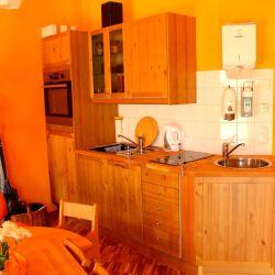 Jeder Gruppenraum hat eine eigene Küche.