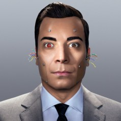 A robot Jimmy Fallon.  Photo by Peter Yang