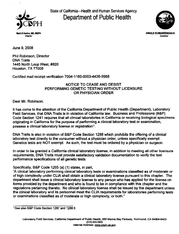 cease and desist letter - Deanroutechoice - letter of cease and desist template