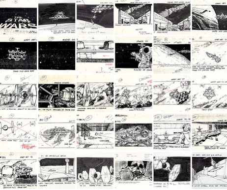Early Storyboards Show Evolution of Star Wars Universe WIRED
