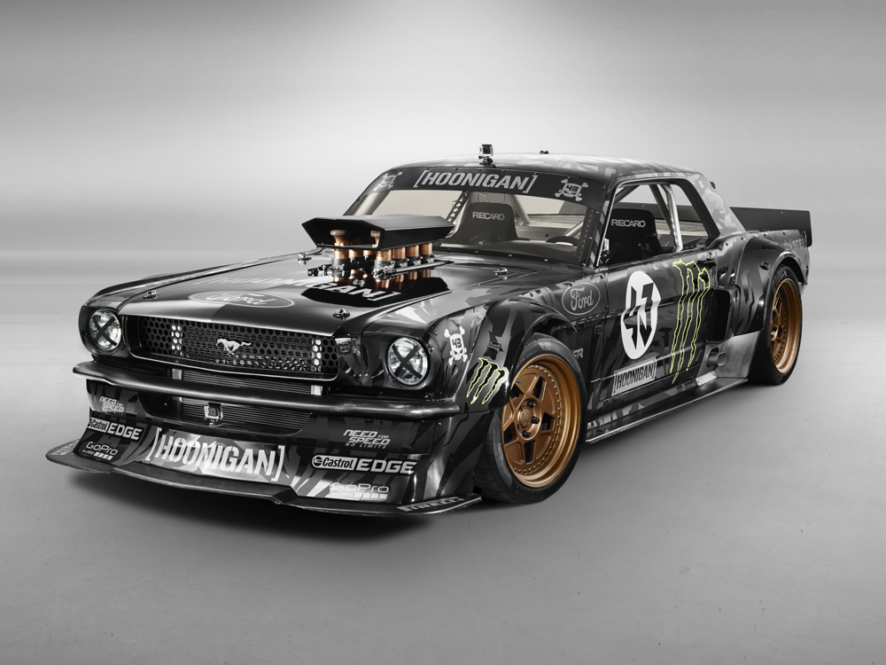 Gymkhana 7 Car Wallpaper Ken Block S Wildly Modded 65 Mustang Puts Out A