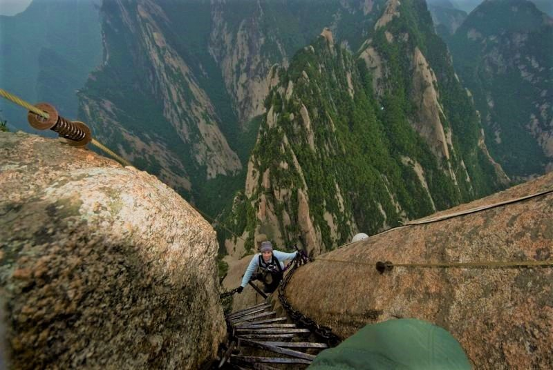 Scariest Hikes In The World Mount Huashan China