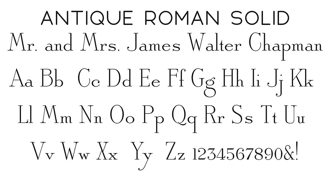 Block Fonts Wiregrass Weddings