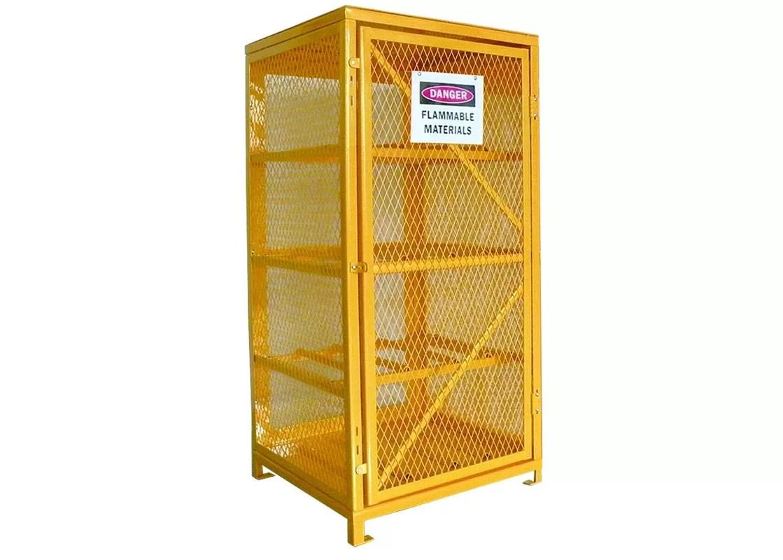 Industrial Wire Mesh Propane Tank Storage Cabinet Oxygen