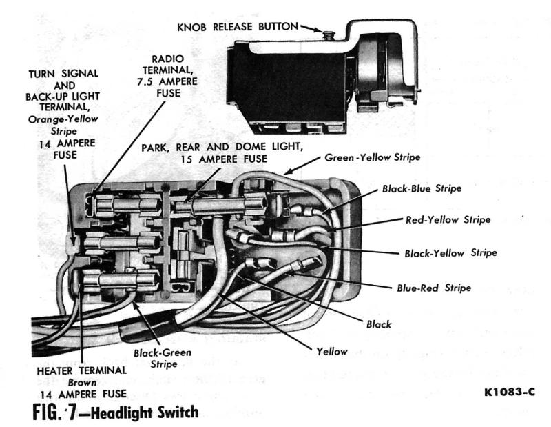 1969 Chevy Headlight Switch Wiring Wiring Diagram