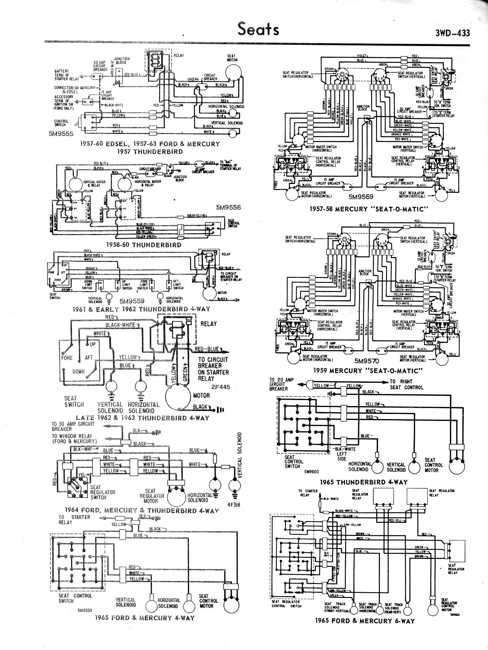 1957 ford power window wiring diagram