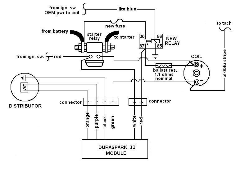 mallory distributor wiring diagram no spark