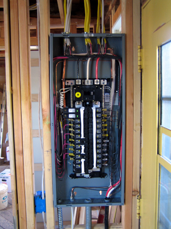 wiring service panel residential
