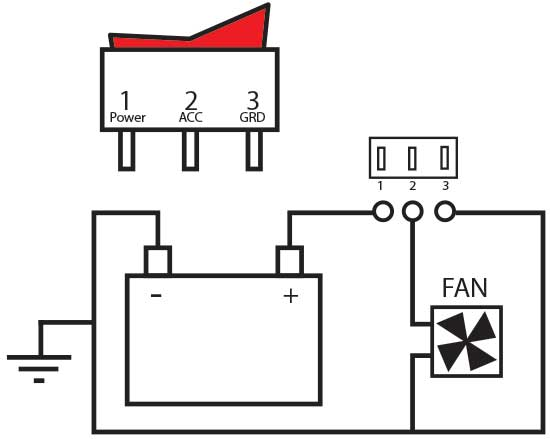 wiring a toggle switch to fan diagram