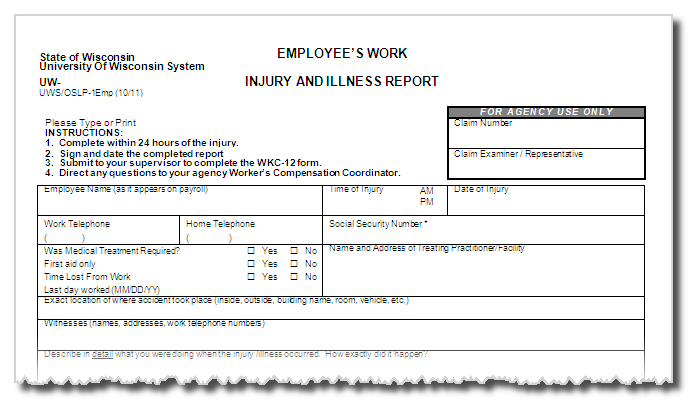 Forms Worker\u0027s Compensation - worker compensation form