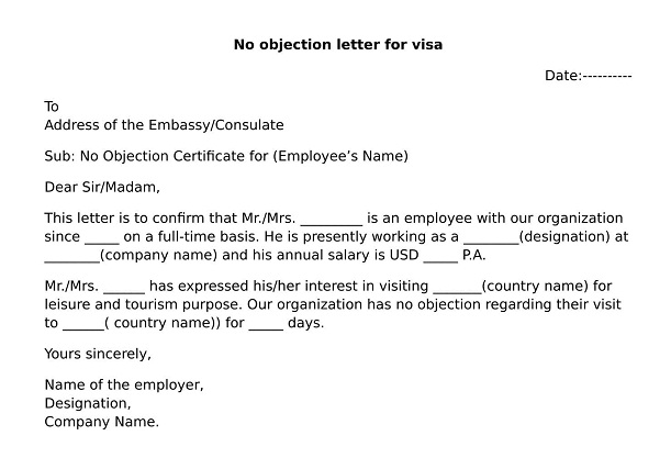 What is NOC letter format? wisdomjobs