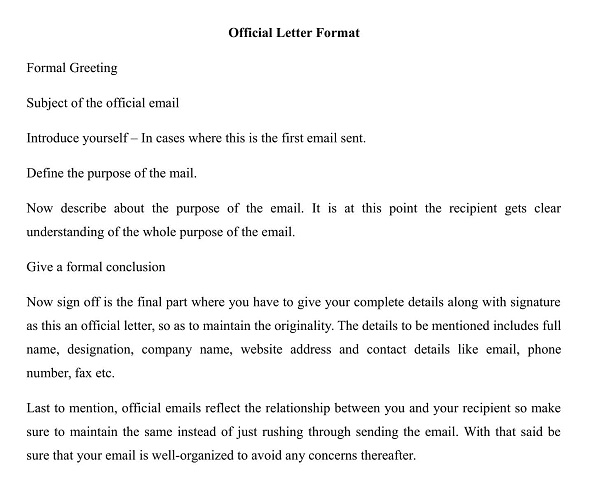 What is the Official Letter Format in India? wisdomjobs
