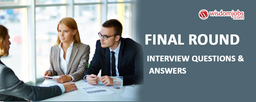 final interview question and answer