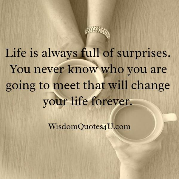 life is full of surprises quotes