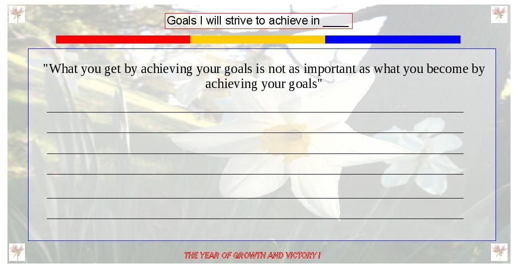 6 Useful Goal Setting Templates and One Step Closer to Achievement!