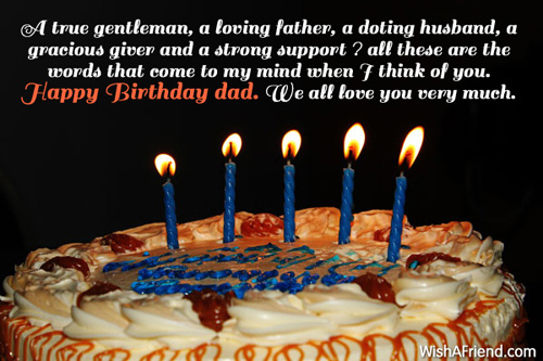 Dad Birthday Messages - sample happy birthday email