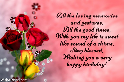 Husband Birthday Messages - sample happy birthday email