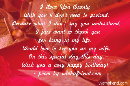 Fall Desktop Wallpaper With Crush Quotes I Love You Dearly Girlfriend Birthday Poem