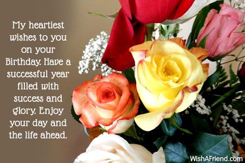 My heartiest wishes to you on, Happy Birthday Wish