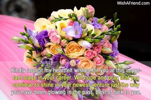 Kindly accept my heartfelt wishes for, Congratulations For New Job