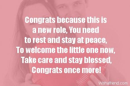 Pregnancy Congratulations Messages