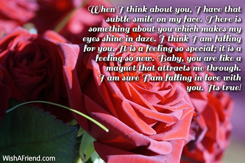 When I think about you, I, Love Letters for Her