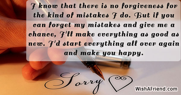 I Am Sorry Messages For Wife - apology card messages