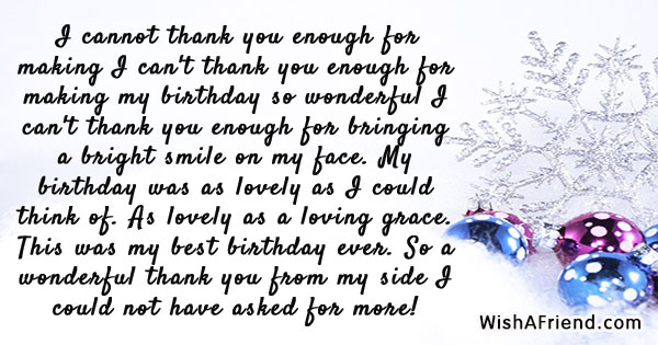 Birthday Thank You Notes - thank you notes
