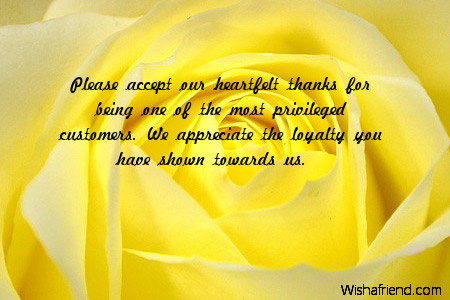 Please accept our heartfelt thanks for, Business Thank You Notes