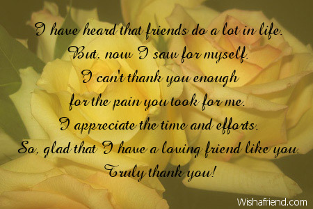 Thank You Notes For Friends