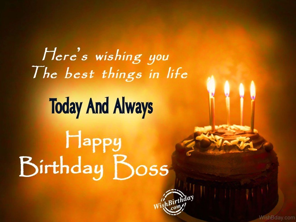 38 Birthday Wishes For Boss