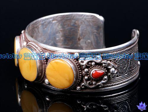 Handmade Tibetan Jewelry Old Mila Sterling Silver Bracelet