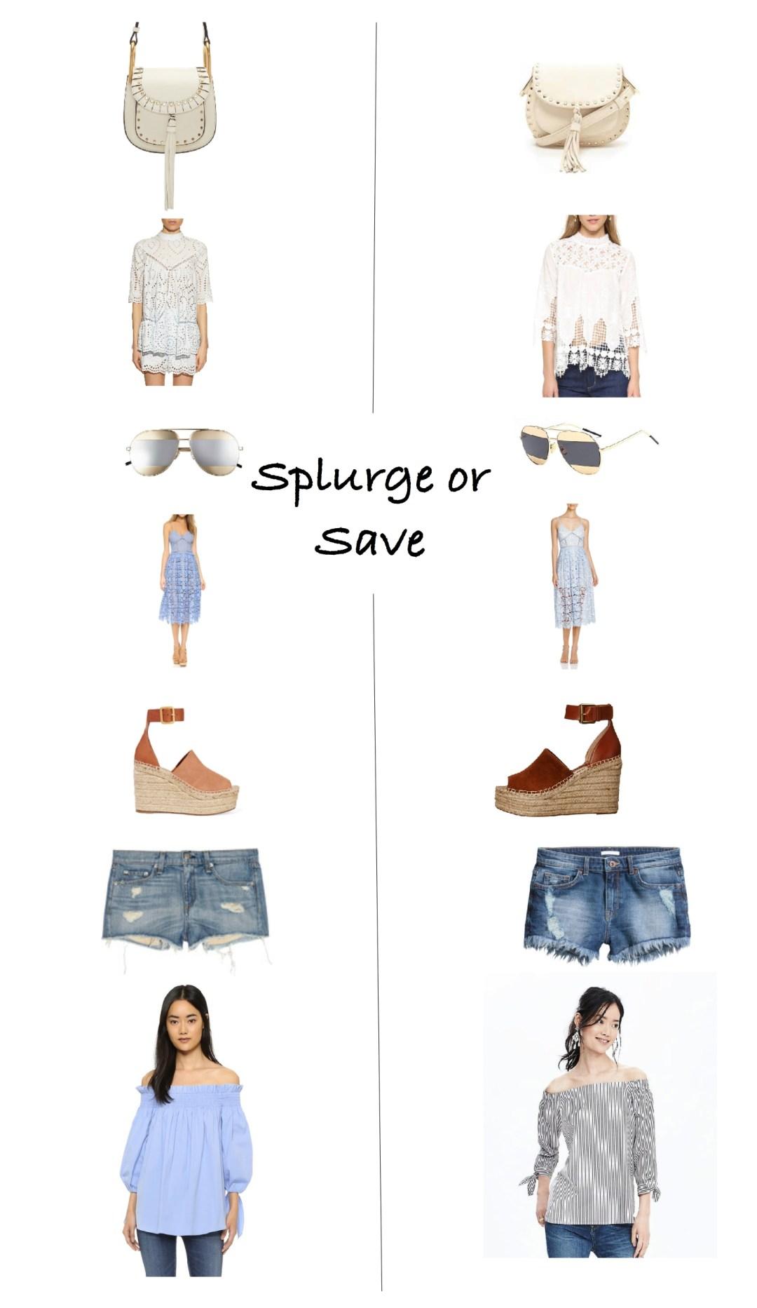 Spring 2016 splurge or save