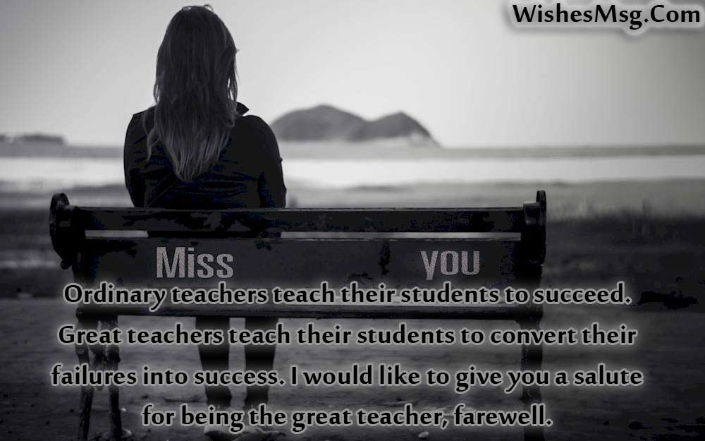 Farewell Quotes For Teacher - Wishes and Messages - WishesMsg